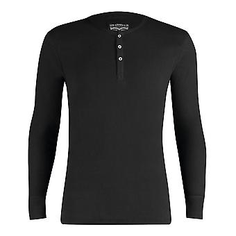 Levi's Long Sleeved Henley T-Shirt - Black Medium