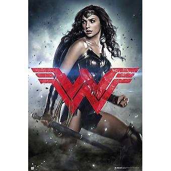 Batman V Superman lurer kvinne Glyph plakat plakatutskrift
