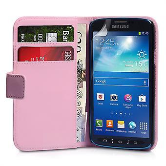 Samsung Galaxy S4 Active läder-effekt Wallet Case - Babyrosa