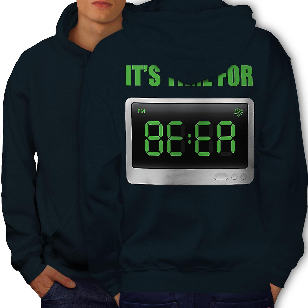 Bière du temps Cool blague hommes NavyHoodie dos