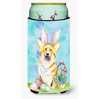 Corgi Easter Bunny Tall Boy Beverage Insulator Hugger