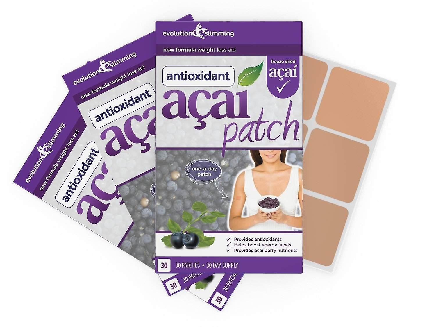 Acai Berry Patch with Green Tea - 90 Patches - Weight Loss Patch - Evolution Slimming