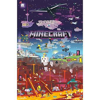 Minecraft - Welt jenseits Poster drucken