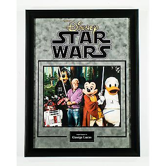 Star Wars - Signed by George Lucas - Framed Artist Series