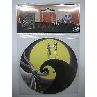 Nightmare Before Christmas-  Jack And Sally Car Magnet