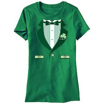 Humor Ierse Tux meisjes vrouw Kelly Green grappig T-shirt