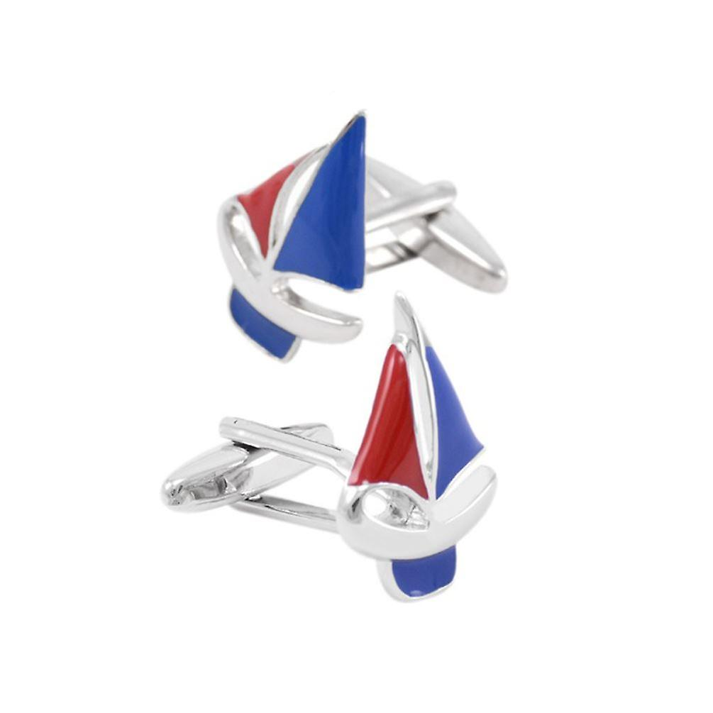 Sailing Boat Yacht Fishing Cufflinks Novelty Wedding Fun Birthday Sports Gift