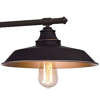 Pulley Pendant Iron Hill Oil Rubbed Bronze with 3 Lights