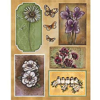 Penny Black Stickers-Spring Charm