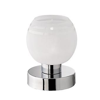 Trio Lighting Ahoi Modern Chrome Metal Table Lamp
