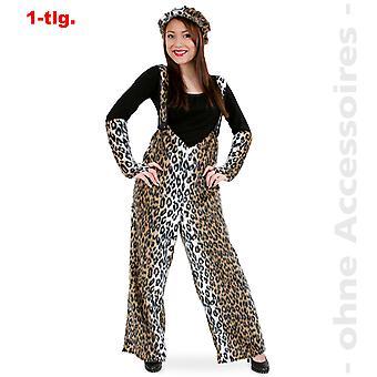 Pantalones de leopardo leopardo traje de gato de gato salvaje depredador unisex