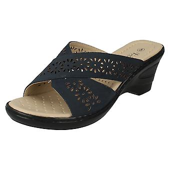 Ladies Eaze Wedge Mule Sandals F3104S