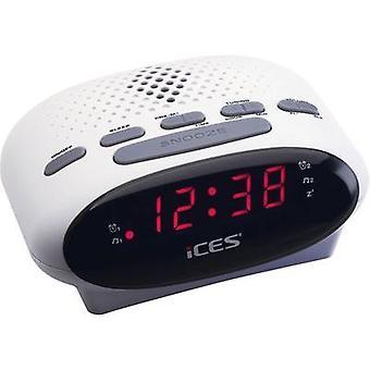 ICES ICR-210 FM Radio alarm clock FM White