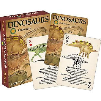 Dinosaurer (Smithsonian Museum) sæt af 52 spillekort (+ jokere)