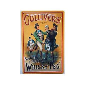 Gullivers Scotch & irischen Whisky geprägt Stahl Zeichen