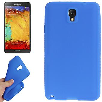 De siliconen beschermhoes voor mobiele Samsung Galaxy Aanraking 3 N9000 donkerblauw