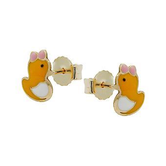 Stud duck øreringe guld 375 børn smykker plug, lille and, 9 KT guld
