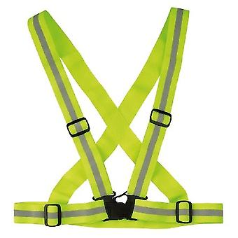Reflective Cross Strap Belt - Safety Vest / Gear For All Manner Of Outdoor Activities Including Running Walking Hiking And Cycling - Provides High V