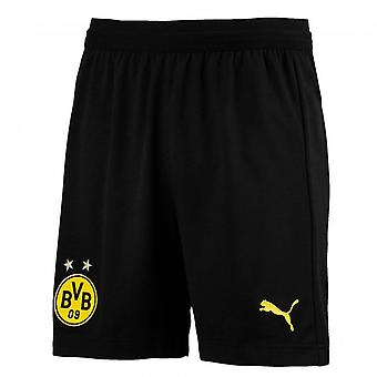 2018-2019 Borussia Dortmund Puma Away Shorts (Black) - enfants