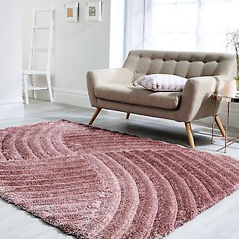 Rand Furrow tapijten In roze