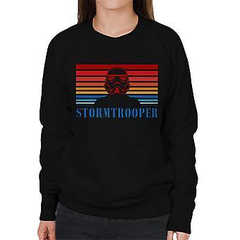Moletom original Stormtrooper Retro dos anos 70 logotipo feminino