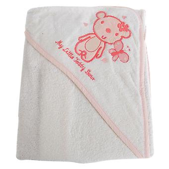 Snuggle Baby Baby Girls My Little Teddy Bear Hooded Towel