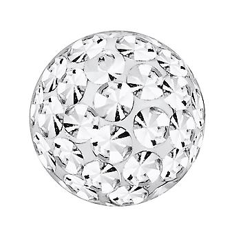 Ersatz-Ball, Körperschmuck Piercing, Multi Kristall Steinen Crystal Clear | 4, 5 und 6 mm