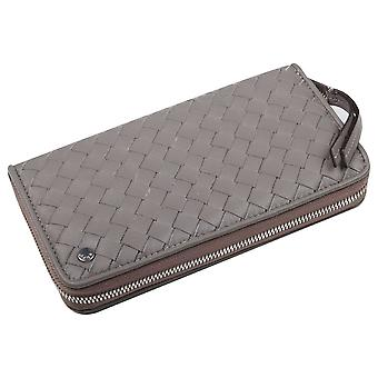 Abro Luxurious Soft Leather Woven Purse