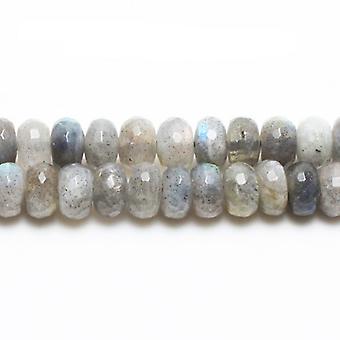 Aktionsbereich 70 + graue Labradorit 5 x 8mm facettierte Rondelle Perlen GS0659-2