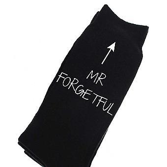 Hombre señor olvidadizo becerro negro calcetines
