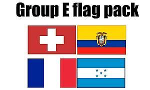 GRUPPE E Football World Cup 2014 flagg Pack (5 ft x 3 ft)