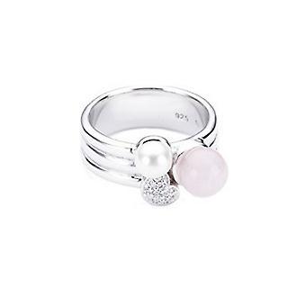 ESPRIT women's ring silver zirconia glass block ESRG91703A1