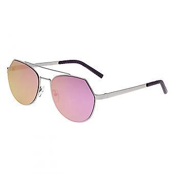 Bertha Hadley Sunglasses - Silver/Fuschia