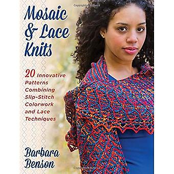Mosaic and Lace Knits: 20 Innovative Patterns Combining Slip-Stitch Colorwork and Lace Techniques
