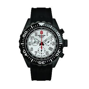 Alpino svizzero militare uomo orologio Chrono 7076.9872SAM in silicone