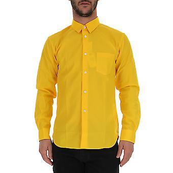 Comme Des Garçons Yellow Cotton Shirt