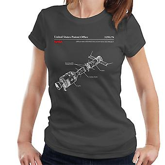 NASA Apollo-Sojus Andocken Test Blueprint Damen T-Shirt