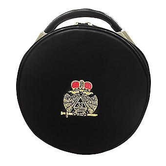 Masonic Scottish Rite Double-Eagle 33 Degrees Hat/Cap Case