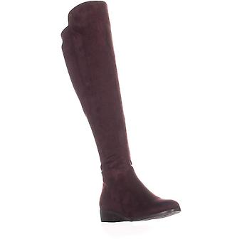 Michael Kors Womens Bromley boot Leather Closed Toe Over Knee Riding Boots