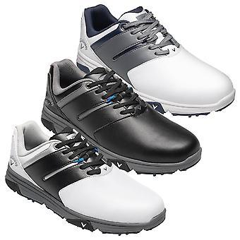 Callaway Golf Mens 2019 Chev Mission Spiked Chaussures de golf en cuir imperméable à l'eau