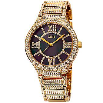Burgi Women's Quartz Crystal Accented Bracelet Watch BUR185YG