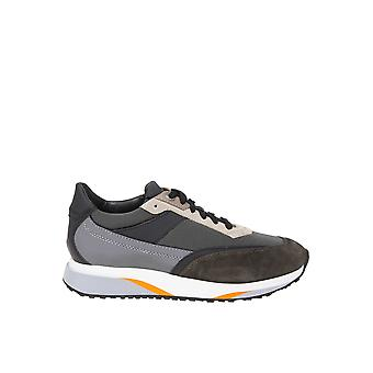 Santoni Multicolor Leather Sneakers