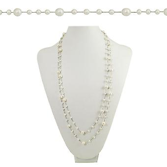 Eternal Collection Pearls Of Wisdom White Freshwater Pearl Sterling Silver Necklace