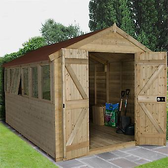 Forest Garden Tongue Groove Pressure Treated Workshop