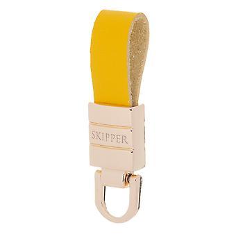 Skipper Ciondolo Portachiavi Pelle/Acciaio Inossidabile Oro/Giallo 8068