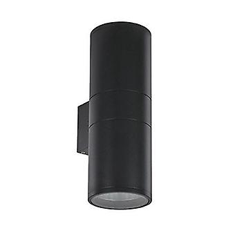 2 Light Outdoor Large Wall Light Black White Ip54