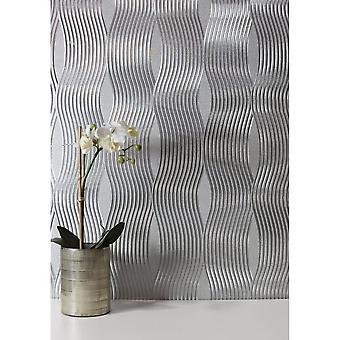 Arthouse Luxury Wave Foil Metallic Shimmer Vintage Texturé Fond d'écran 294501