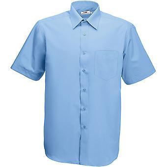 Fruit Of The Loom - Mens Poplin Short Sleeve Shirt
