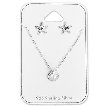 Coquille & Starfish Set - Sets d'argent Sterling 925 - W28962X