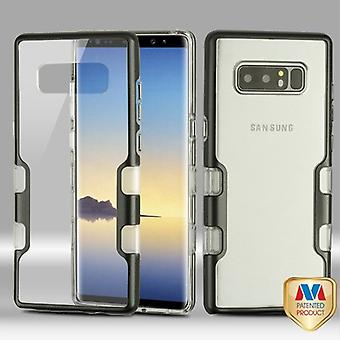 MYBAT Metallic Black/Transparent Clear TUFF Panoview Hybrid Protector Cover  for Galaxy Note 8